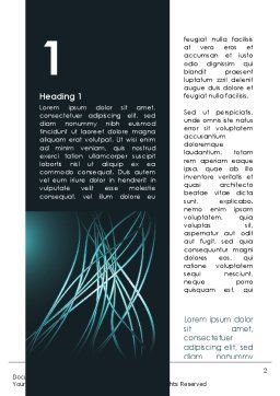 Blue Tentacles Word Template, First Inner Page, 09809, Telecommunication — PoweredTemplate.com