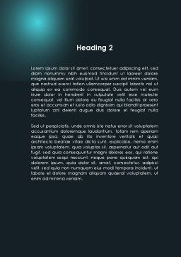 Blue Tentacles Word Template, Second Inner Page, 09809, Telecommunication — PoweredTemplate.com
