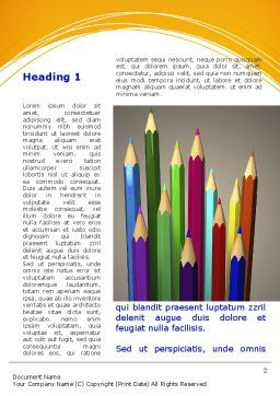 Colored Pencils Word Template First Inner Page