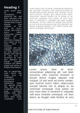 Colibacillus Word Template, First Inner Page, 09812, Medical — PoweredTemplate.com