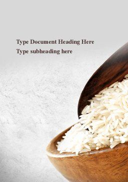 Oblong Rice Word Template Cover Page