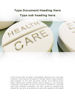 Health Care Word Template, Cover Page, 09818, Medical — PoweredTemplate.com