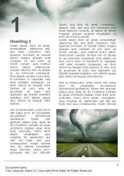 Tornado On The Road Word Template, First Inner Page, 09821, Nature & Environment — PoweredTemplate.com