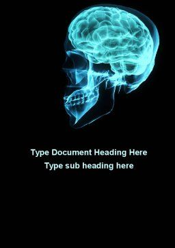 MRT Of Cranial Cavity Word Template, Cover Page, 09822, Medical — PoweredTemplate.com