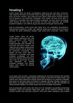 MRT Of Cranial Cavity Word Template, First Inner Page, 09822, Medical — PoweredTemplate.com