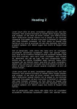 MRT Of Cranial Cavity Word Template, Second Inner Page, 09822, Medical — PoweredTemplate.com