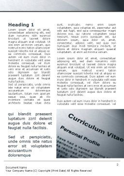 Ordinary Curriculum Vitae Word Template First Inner Page