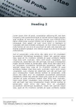 Ordinary Curriculum Vitae Word Template Second Inner Page
