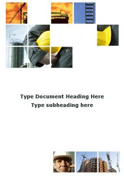 Those Who Build The Cities Word Template, Cover Page, 09825, Utilities/Industrial — PoweredTemplate.com