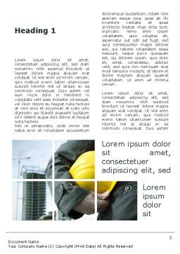 Those Who Build The Cities Word Template, First Inner Page, 09825, Utilities/Industrial — PoweredTemplate.com