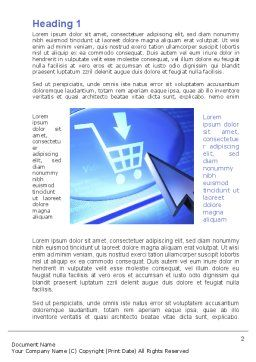 Online Shopping Cart Word Template, First Inner Page, 09826, Business Concepts — PoweredTemplate.com