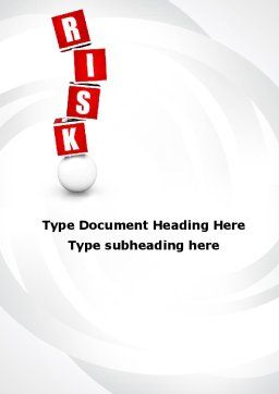 Risky Balance Word Template, Cover Page, 09828, Consulting — PoweredTemplate.com