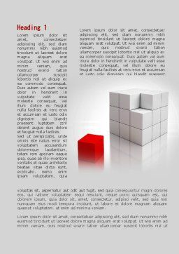 Red Part Of White Cube Word Template, First Inner Page, 09830, Business Concepts — PoweredTemplate.com