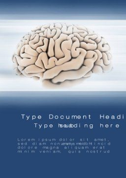 Human Brain Preparation Word Template, Cover Page, 09833, Medical — PoweredTemplate.com