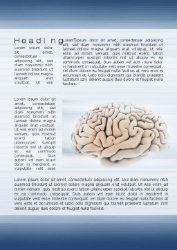 Human Brain Preparation Word Template, First Inner Page, 09833, Medical — PoweredTemplate.com
