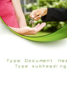 Key Transfer Word Template, Cover Page, 09834, Construction — PoweredTemplate.com
