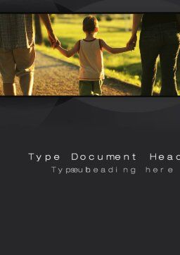 Son Of A Family Word Template, Cover Page, 09835, People — PoweredTemplate.com