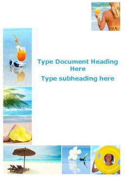 Beach Resort Collage Word Template, Cover Page, 09842, Holiday/Special Occasion — PoweredTemplate.com