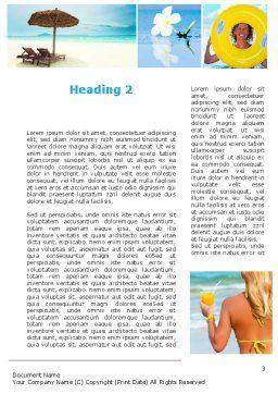 Beach Resort Collage Word Template, Second Inner Page, 09842, Holiday/Special Occasion — PoweredTemplate.com