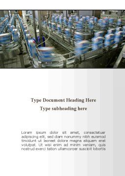 Packing Line Word Template Cover Page