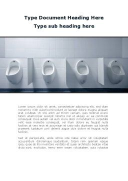 Plumbing Equipment Word Template, Cover Page, 09845, Construction — PoweredTemplate.com