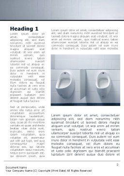 Plumbing Equipment Word Template, First Inner Page, 09845, Construction — PoweredTemplate.com