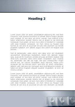 Plumbing Equipment Word Template, Second Inner Page, 09845, Construction — PoweredTemplate.com