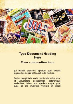Philatelism Word Template, Cover Page, 09846, Flags/International — PoweredTemplate.com