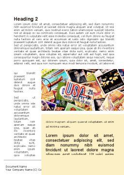Philatelism Word Template First Inner Page