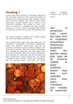 A Pile Of Gold Coins Word Template, First Inner Page, 09847, Financial/Accounting — PoweredTemplate.com