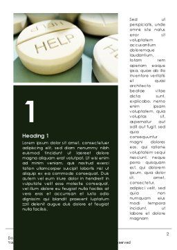 Emergency Medicamental Help Word Template, First Inner Page, 09849, Medical — PoweredTemplate.com