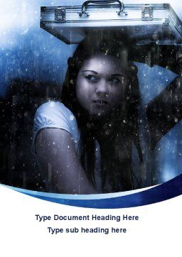 Girl Under The Rain Word Template, Cover Page, 09852, Consulting — PoweredTemplate.com