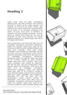 Suburban District Planning Word Template, Second Inner Page, 09853, Construction — PoweredTemplate.com