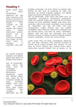 Virus In Blood Stream Word Template, First Inner Page, 09857, Medical — PoweredTemplate.com