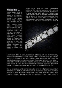 Road Marking In Black and White Word Template, First Inner Page, 09860, Construction — PoweredTemplate.com