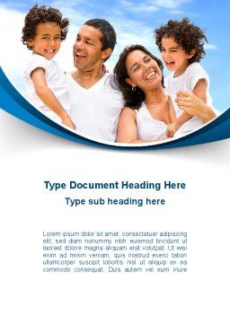Lucky Latino Family Word Template, Cover Page, 09861, People — PoweredTemplate.com