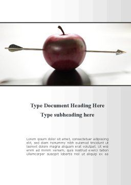 Apple Of William Tell Word Template, Cover Page, 09862, Consulting — PoweredTemplate.com