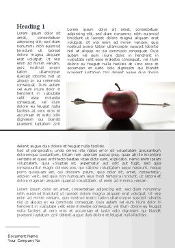 Apple Of William Tell Word Template, First Inner Page, 09862, Consulting — PoweredTemplate.com