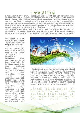 Ecological Balance Between Various Types Of Life Word Template, First Inner Page, 09864, Agriculture and Animals — PoweredTemplate.com