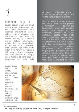 Navigation In Global Business Word Template, First Inner Page, 09865, Global — PoweredTemplate.com