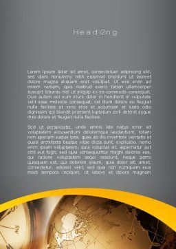 Navigation In Global Business Word Template, Second Inner Page, 09865, Global — PoweredTemplate.com