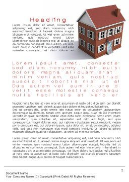 Model Of Townhouse Word Template, First Inner Page, 09866, Construction — PoweredTemplate.com