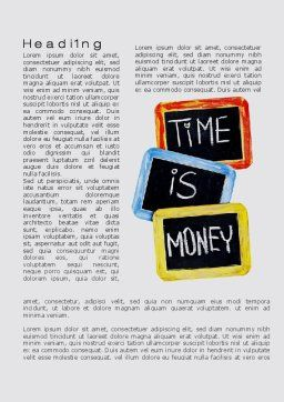Time Is Money Training Word Template, First Inner Page, 09872, Financial/Accounting — PoweredTemplate.com