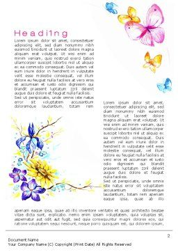 Butterfly Frame Word Template First Inner Page