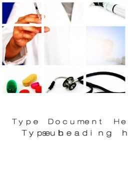 Educational Medical Word Template, Cover Page, 09874, Medical — PoweredTemplate.com