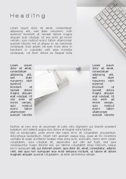 Pure Business Word Template, First Inner Page, 09875, Business — PoweredTemplate.com