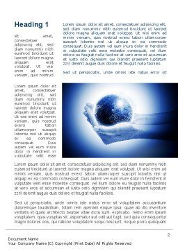 Globe In Hands Word Template, First Inner Page, 09876, Global — PoweredTemplate.com
