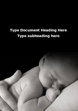 Sleeping Baby Word Template, Cover Page, 09877, People — PoweredTemplate.com