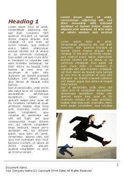 Run Businessman Run Word Template, First Inner Page, 09878, Business — PoweredTemplate.com