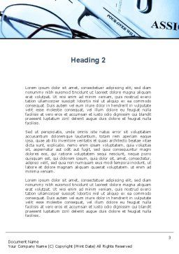 Corporate Right Word Template, Second Inner Page, 09882, Legal — PoweredTemplate.com